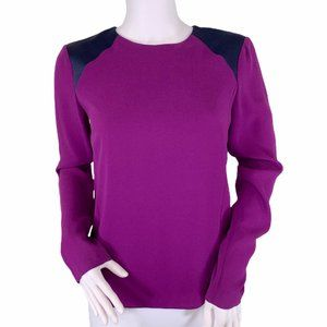 Rag & Bone Long Sleeve Back Zip Purple Top XS